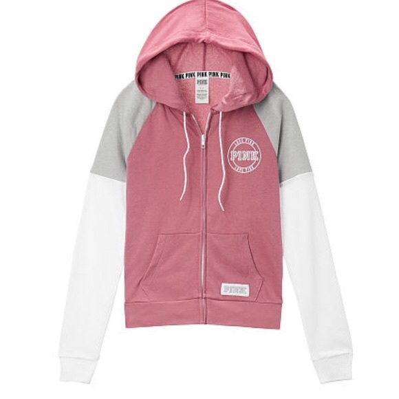 76ec2d32326e6 Victoria's Secret Pink Perfect Zip Hoodie M